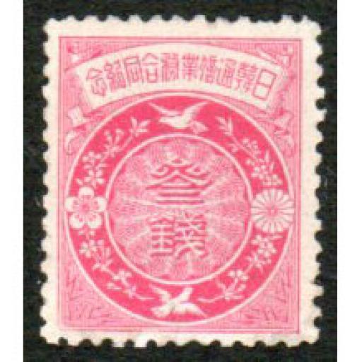 1905 JAPAN-KOREA POSTAL SYSTEM.
