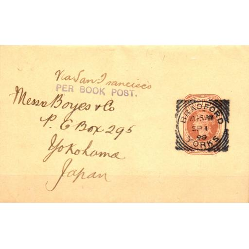 GB to JAPAN, 1 SEPTEMBER 1899,