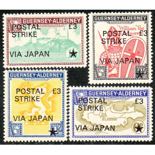 1971 GB POSTAL STRIKE - CHANNEL ISLANDS TO JAPAN.